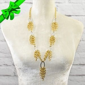 Jewelry - Gold Plated Fringe Chain Necklace ~0cd40s0sc14
